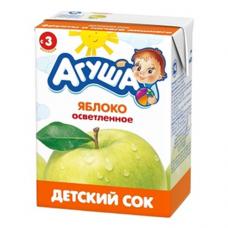"""Сок осветленный """"Агуша"""" 200мл Яблоко"""