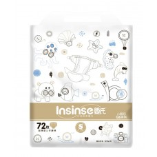 Подгузники INSINSE Q6 (3-6кг S) 72шт