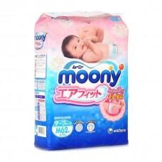 Подгузники Moony 6-11кг M 62шт