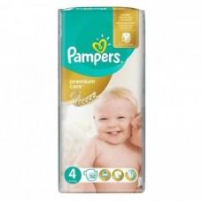 PAMPERS Подгузники Premium Care Maxi №4 (8-14кг) 52шт