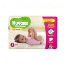 Подгузники Хаггис Ультра Комфорт для девочек мега (3) 5-9 кг, 80 шт.