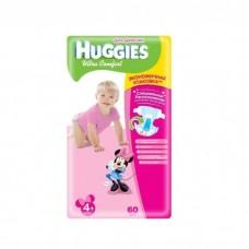 Подгузники Хаггис Ультра Комфорт для девочек мега (4+) 10-16 кг, 60 шт.