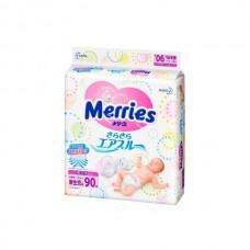 Подгузники Merries эконом для новорожденных 0/5 (90шт/4 кор)