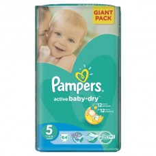 PAMPERS Подгузники Active Baby -Dry Junior №5 (11-18 кг )