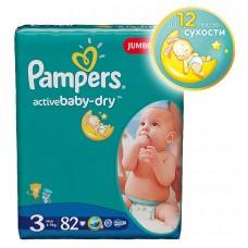 PAMPERS Подгузники Active Baby-Dry Midi ( 5-9 кг )