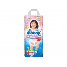 Трусики-подгузники для девочек Moony 12-17кг XL 38шт