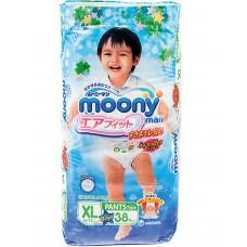 Трусики-подгузники для мальчиков Moony 12-17кг XL 38шт